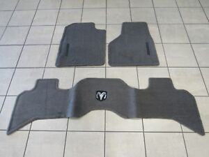 Dodge Ram 1500 2500 Front Rear Premium Taupe Carpet Floor Mats New Oem Mopar
