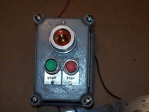 Killark Hubbell Fxcs 0a15 Hazardous Loc Start Stop Switch With Indicator P575