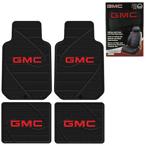 New Gmc Factory Logo Car Truck Front Back All Weather Floor Mats Seat Covers