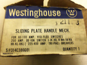 New Westinghouse Sliding Plate Handle Mech 314c386g01 For 60 100 Amp Visi flex