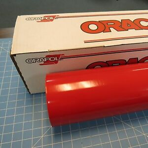 Red Oracal 651 1 24 X 30 Roll Sign Cutting Vinyl
