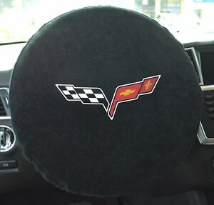 2005 2013 Corvette Steering Wheel Cover Towel Cross Flags Embroidered C6 New