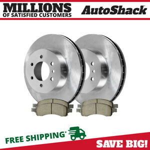 Front 2 Brake Rotors 4 Ceramic Brake Pad Fits 2007 2011 2012 2013 Gmc Acadia