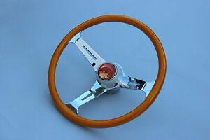 Vw Type 1 3 Bug Ghia Super Beetle Knollwood Red Herring Wood Grip Steering Wheel
