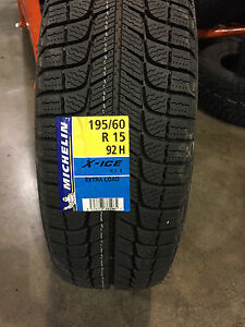 4 New 195 60 15 Michelin X Ice Xi3 Snow Tires