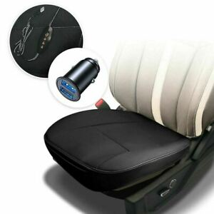 Zone Tech Heated Back Massage Chair Cushion Car Seat Home Pad Pain Lumbar Neck