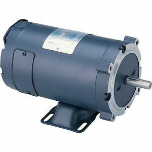 Leeson Low Voltage Dc Motor 1 2 Hp 24 Volts 1800 Rpm Model 4d17nk10