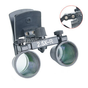 Clip On Dental Clinic Medical Surgical Binocular Magnifier Loupes 2 5x r