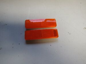 Mopar 69 Dart Roadrunner Cuda Coronet Amber Side Marker Light Lenses 1969 New