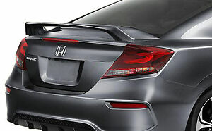Unpainted Factory Style Spoiler For A Honda Civic 2 Door Si 2012 2015