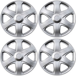 4 Pc Hubcaps Fits 2009 Toyota Matrix 16 Silver Abs Replacement Wheel Rim Cover