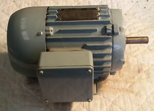 New Reuland 1 Hp 1750 Rpm Induction Motor 3 ph 230 460 Volt