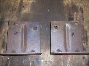 1956 Buick Special Front Bumper Jack Frame Mount Bracket Pair Set Rat Rod Parts