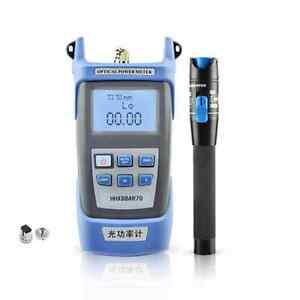 New Fiber Optical Power Meter And 10 12km 10mw Visual Fault Locator Cable Tester
