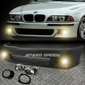 For 96 03 Bmw E39 5series M5 Style Replacement Front Bumper Body Kit fog Light