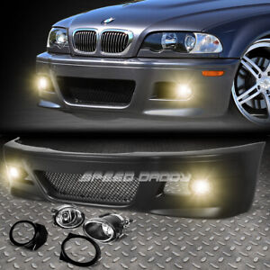 For 99 06 E46 3series Non M M3 Style Replacement Front Bumper Body Kit Fog Light