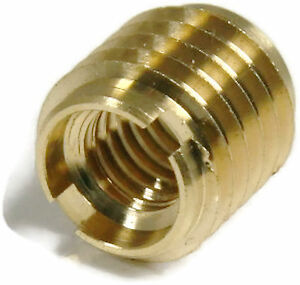 Thread Insert For Wood Solid Brass 400 5 5 16 18 X 625 Qty 100
