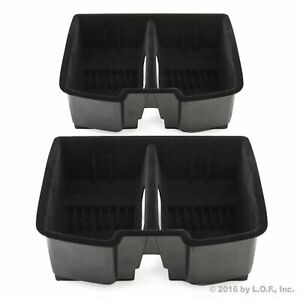 2 Black Center Front Floor Console Organizer For Full Size Gm Trucks Suv S 07 13