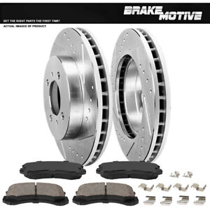 Front Brake Rotors Ceramic Pads For 2002 2003 2004 2005 2007 Mitsubishi Lancer