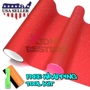 matte Glitter Red Tint Headlight Taillight Fog Light Vinyl Film Sheet Sticker