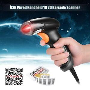 Usb Wired Barcode Scanner Scan Gun Label Reader Usb Cable Pos System Store V5t4