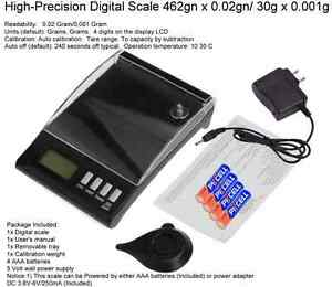 DIGITAL RELOADING SCALE WCALIBRATION WEIGHT. 462gn  0.02 gn accuracy
