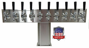 Stainless Steel Draft Beer Tower Made In Usa 10 Faucets Air Cooled Ttb 10ss op