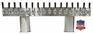 Stainless Steel Draft Beer Tower Made In Usa 16 Faucet Air Cooled Ptb 16ss op