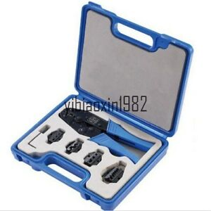 Ly03c 5d3 Crimping Tool Kit With Changeable 4 Die Sets New