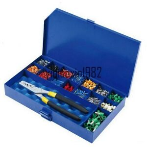 Hs0 5 16pzd Crimping Tool Kits Combination Metal Box For Cable End Sleeves New