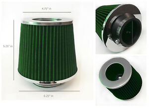 Green 3 Inch 3 76mm Cold Air Intake Cone Filter Universal Fit Fitment