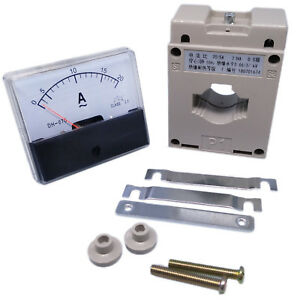 Us Stock Analog Panel Amp Current Meter Gauge Dh670 20a Ac Current Transformer