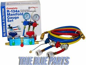 Interdynamics Mf 134 Professional Complete Ac Manifold Hose Gauge Set R134a New
