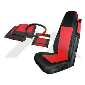 Front Seat Cover Set Black Red For Jeep Wrangler Tj Yj 87 02 Rough Trail Sc10030