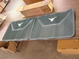 Nos Oem Ford 1958 1959 1960 Thunderbird Rear Rubber Floor Mats Pair Blue Green
