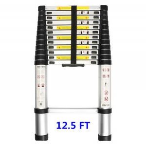 12 5ft Telescoping Ladder Aluminum Telescopic Extension Multi Purpose