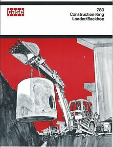 Equipment Brochure Case 780 Construction King Loader Backhoe C1971 e3404