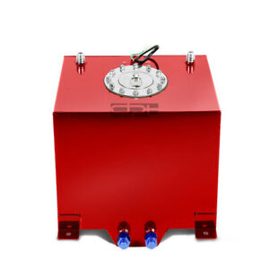5 Gallon 18 8l Lightweight Red Coat Aluminum Race Fuel Cell Tank level Sender