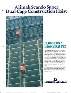 Equipment Brochure Scando 27 37 C Construction Hoist Lift 3 Item e3417