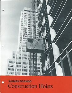 Equipment Brochure Alimak Scando Construction Hoists Lift Elevator e3418