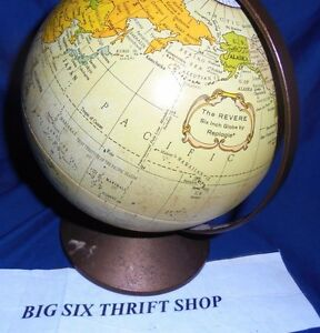 The Revere Replogle 6 Diameter Metal Earth Globe World Bank