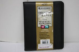 At a glance Executive Planner Black 7 1 2 X 9 3 8
