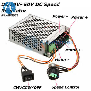 10 50v 40a Pwm Dc Motor Speed Control Controller Cw Ccw Reversible Pulse Driver