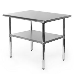 Commercial Stainless Steel Kitchen Food Prep Work Table 24 X 36