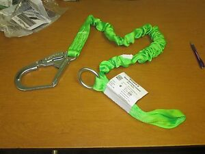 Safety Lanyard Miller 233mors 6ftgn Fall Arrest Positioning Restraint Green 6 Ft