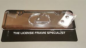 Lexus All Chrome Mini Half Size License Plate Frame Raised L Gs300 Ls430 Sc430