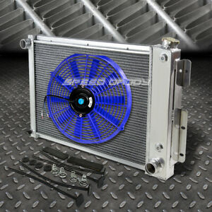 3 Row Aluminum Radiator 1x 16 Fan Blue For 67 69 Chevy Camaro Firebird T A V8