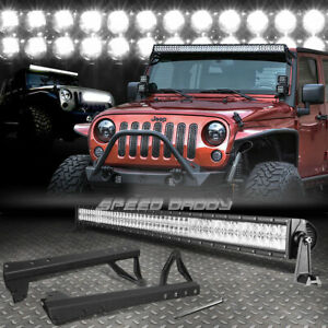 50 276w 92 Led Light Bar windshield Mounting Bracket For 07 16 Jk Jeep Wrangler