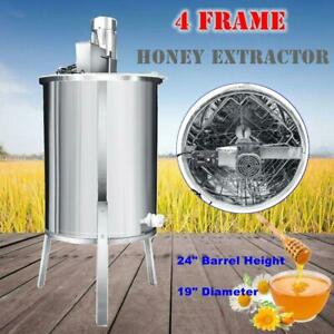 Hd 4 Frame Stainless Steel Electric Honey Extractor Beekeeping Beehive Equipment
