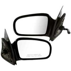 Manual Side View Mirrors Pair L R For 95 05 Pontiac Sunfire Chevy Cavalier Coupe
